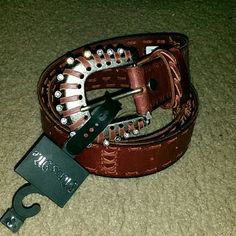Miss Me belt sz small red-brown NWT New with tag.   Genuine leather.   Please check my other listings. Thank you for looking and have a great day! Miss Me Accessories Belts
