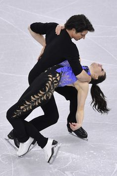 Tessa Virtue and Scott Moir of  Canada comoete in the Ice Dance Short Dance during ISU Four Continents Figure Skating Championships - Gangneung -Test Event For PyeongChang 2018 at Gangneung Ice Arena on February 16, 2017 in Gangneung, South Korea.