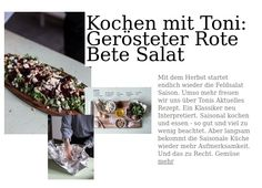 Kochen mit Toni: Gerösteter Rote Bete Salat