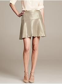 Heritage Metallic Fit-and-Flare Skirt