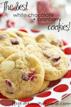 White Chocolate Macadamia Nut + Cranberry Cookie Recipe! - Kara's Party Ideas - The Place for All Things Party KarasPartyIdeas.com