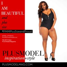 I am beautiful and Plus Size. www.plus-model-mag.com
