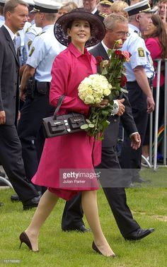 july 26, 2004--Crown Prince Frederik & Crown Princess Mary Of Denmark Visit Aarhus During A 4-Day Trip On The Royal Yacht Dannebrog.