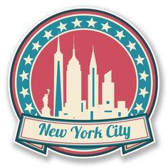 2 x New York America USA Vinyl Sticker #6736