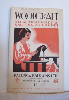 Vintage 1930s Rare 'Woolcraft' Patons & by VioletsEmporium on Etsy