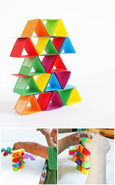 Engineering for Kids: Make building blocks out of paper! Great way to illustrate how shape affects strength. STEAM via NoodleNook! Diy Projects On A Budget, Stem Projects, Science Projects, Science Experiments Kids, Science For Kids, Art For Kids, Crafts For Kids, Creative Activities, Science Activities