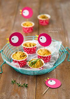 muffin salati patate, cipolle e rosmarino