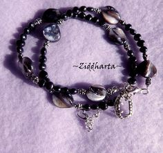"""Black Pearl Necklace: Goth Emo Necklace Vampire Necklace """"Bitten"""" Rock Necklace  Halloween Necklace - Handmade Jewelry Necklace by Ziddharta by Ziddharta on Etsy"""
