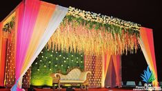 Pastel Themed Wedding Decorations that are Way Too Prett Reception Stage Decor, Wedding Backdrop Design, Wedding Stage Design, Wedding Reception Backdrop, Event Decor, Wedding Mandap, Wedding Receptions, Wedding Backdrops, Engagement Stage Decoration