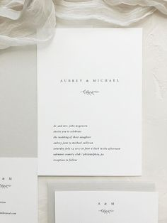 Simple Wedding Invitations / Save the Dates / Letterpress