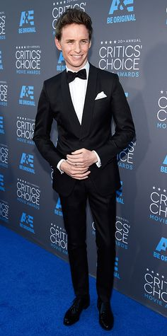2015 Critics' Choice Movie Awards: Red Carpet Arrivals - Eddie Redmayne from #InStyle