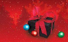 Regalo de Navidad con Lazo rojo - Fondos de Pantalla. Imágenes y Fotos espectaculares.