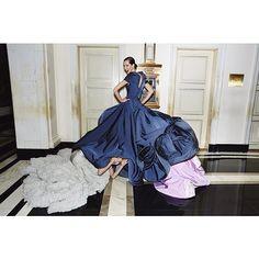 vogue instagram ball gowns4 Hanne Gaby Odiele, Xiao Wen Ju + More Prep for Met Gala in Vogue Instagram Shoot