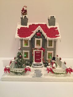 1 million Stunning Free Images to Use Anywhere Christmas Village Display, Christmas Village Houses, Christmas Town, Putz Houses, Old Fashioned Christmas, Christmas Villages, Retro Christmas, All Things Christmas, Christmas Paper Crafts