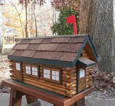 Log Cabin Mailbox Handcrafted Be The Talk Of Your Town! By CarvedByHeart