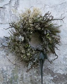 Nordic Christmas, Christmas Love, Rustic Christmas, Beautiful Christmas, Dried Flower Wreaths, Greenery Wreath, Dried Flowers, Christmas Door Wreaths, Christmas Decorations
