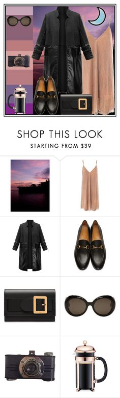 """""""Nights in the City"""" by littlemisshorovedy ❤ liked on Polyvore featuring Sans Souci, Gucci, Bally, Gentle Monster and Bodum"""