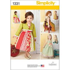 Simplicity 1/2-1-2-3--Toddlers Dresses