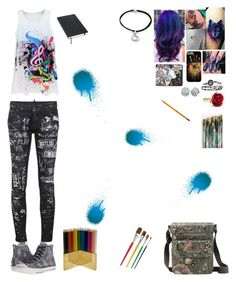 """""""Art"""" by sorrowevermore on Polyvore featuring Sakroots, Jayson Home, Moleskine, Dsquared2, Converse, Oscar de la Renta and Alex and Ani"""