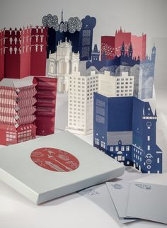 architectural pop-up cards by PORIGAMI Grandma Crafts, Prague City, Bathroom Installation, Paper Lampshade, Up Book, Paper Houses, New Year Card, Pop Up Cards, Kirigami