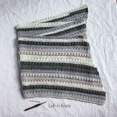 Autumn Chill Angled Super Scarf — Left in Knots