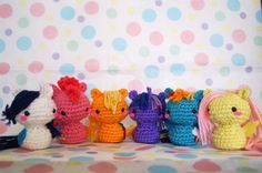 Is it bad that I want all of these? Crochet ponies from Millie Crochet House.