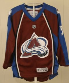 69acbb72c Reebok Colorado Avalanche Jersey  54 David Jones NHL Sweater Youth  Small Medium  Reebok