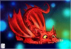 Cat Dragon c: by Skizu