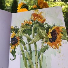 "Shari Blaukopf ""I should be working but I'm obsessed with getting these sunflowers."