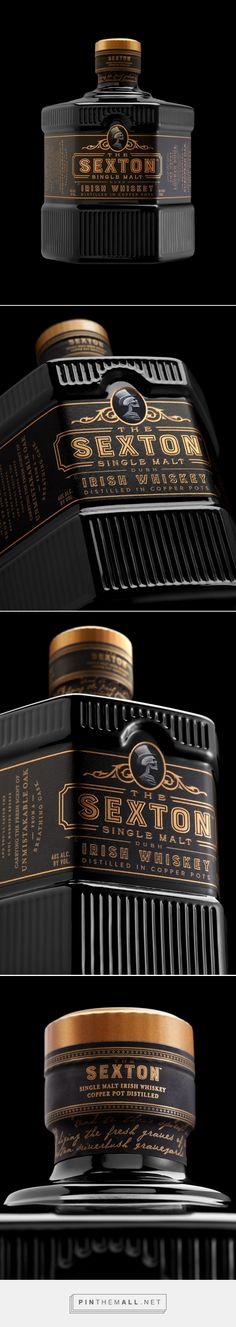 The Sexton whiskey packaging design by Stranger & Stranger - http://www.packagingoftheworld.com/2017/11/the-sexton.html