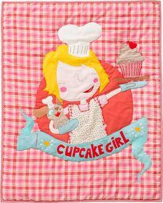 DECOILUZION - Edredón cuna bebé Cupcake girl de Room Seven