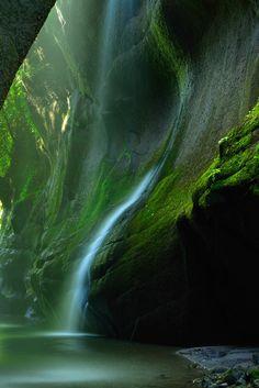 Yufu River Valley from Tsubaki entrance in Beppu City, Oita Prefecture, Japan
