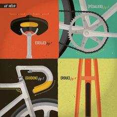 4. le vélo une série de huit illustrations qui représentent l'adrénaline de rouler en ville et au vélodrome avec des vélos à pignon fixe. . a series of eight illustrations representing the adrenaline of riding fixed-gears bikes in the city and on the velodrome.