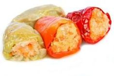Zelí zavařené v paprice Fresh Rolls, Sushi, Cabbage, Stuffed Peppers, Canning, Vegetables, Ethnic Recipes, Food, Red Peppers