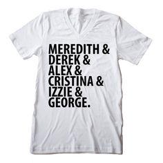 """Women's Graphic T-Shirt - """"Grey's OGs"""" Shirt - Grey's Anatomy Tee Shirt Seattle Grace tshirt Grey's Anatomy fan gift"""