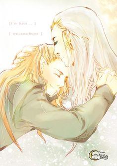 Legolas: I am back! Thranduil: Welcome home.