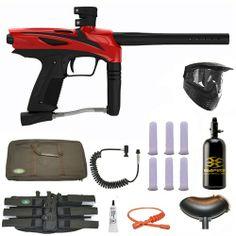 GOG eNMEy Paintball Marker Gun 3Skull N2 Sniper Set - Racer Red. Available at Ultimate Paintball!  http://www.ultimatepaintball.com/p-10117-gog-enmey-paintball-marker-gun-3skull-n2-sniper-set-racer-red.aspx