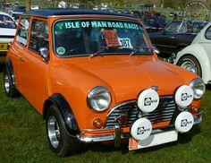 Beautiful W.A.W Mini Cooper S Replica from the Isle of Man. Love the orange and black combo.