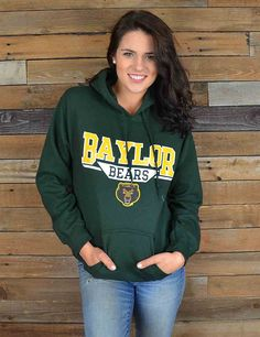 Stay warm and cozy while cheering on your Green and Gold! A Bear fans favorite hoodie! Sic'em Bears!