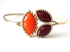 Orange and brown bangle  custom size  limited offer