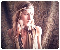 hawk tribe a tribal feathered headdress and by RunWithTheTribe