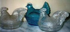 In the U.S., covered glass dishes were made in animal and bird forms ...