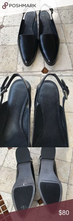 Theory Black Flat shoes Never worn, just purchased at TJ Max, doesn't go with my outfit... Theory Shoes Flats & Loafers