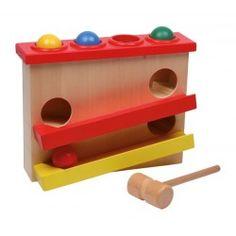 Descente de boules à taper en bois