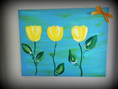 Tulips Canvas by LifesAcanvas on Etsy, $20.00