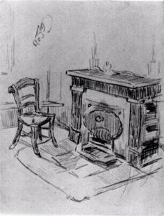 Mantelpiece with Chair 1890 Vincent van Gogh