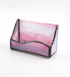 23 best cool business card holders images on pinterest business stained glass business card holder pink desk accessories unique office decor desk organization desktop organizer gifts for women colourmoves