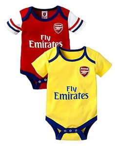 6e39051ff Arsenal Baby Bodysuits - 2 Pack. 2013 14 Season. 0-18 months