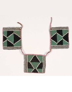 South Africa | Iqabane Necklace | Sotho | Early 20th century | Glass beads and natural fiber | POR