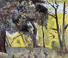 post-impress-art: In the Woods (study) via Pierre BonnardSize:...